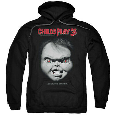 Childs Play Movie 3 Chucky Big Face Licensed Adult Pullover Hoodie