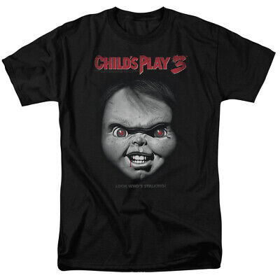 Childs Play Movie 3 Chucky Big Face Licensed Adult T Shirt