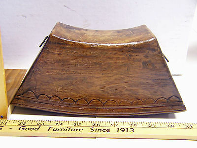HANCARVED WOOD  (TEAK) COWBELL SOUTHEAST ASIA