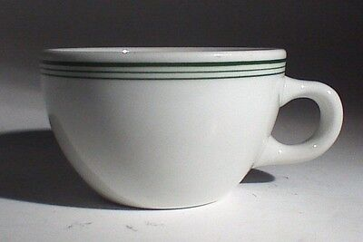 Vintage Mid-century Shenango Green Stripe Diner Style Coffee Cup