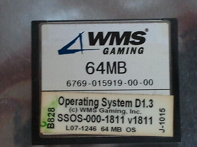 WMS  OPERATING SYSTEM D1.3    SSOS-000-1811    64MB    v1811  USED WILLIAMS