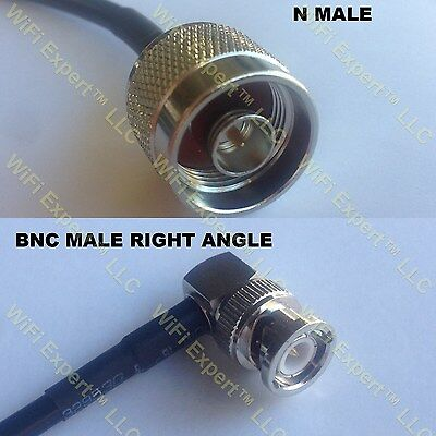 USA-CA RG142 N MALE ANGLE to N MALE Coaxial RF Pigtail Cable