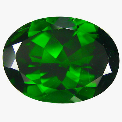 NATURAL AWESOME GREEN CHROME DIOPSIDE LOOSE GEMSTONES (6.1 x 4 mm)  OVAL CUT