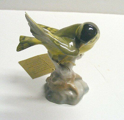 VINTAGE HUTSCHENREUTHER KUNSTABTEILUNG SELB BIRD FIGURINE - GERMANY WITH TAGS