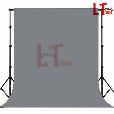 10x20Ft Photo Studio Muslin Backdrop Photography Solid Grey Cotton Background