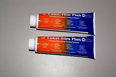 TWO 4 Oz Tubes Haynes Lubri-Film PLUS Food Grade Lube Bunn Ultra CDS  s