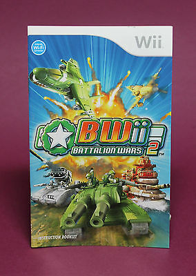 INSTRUCTION BOOKLET/MANUAL ONLY FOR BWii BATTALION WARS 2 Wii ☆OZ SELLER☆