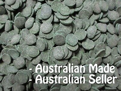 SPIRULINA DISCS ALGAE WAFERS 14-16mm (500g - 8kg) Catfish Fish Food AUSSIE MADE