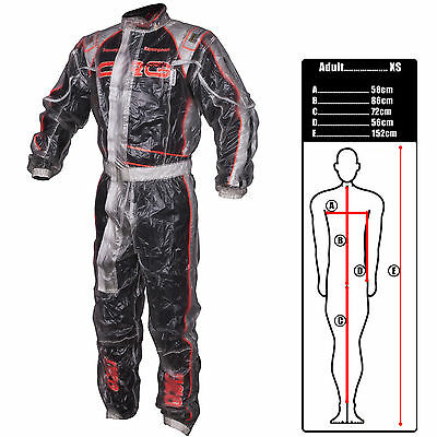 Koden Adults Rain Suit 1-PieceWaterproof Clear XS