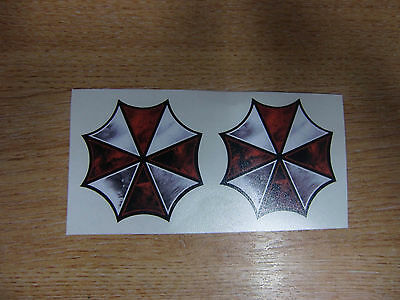 2x  Resident Evil Umbrella Corp logo  |  Sticker / Decal / Graphic  |  50mm pair