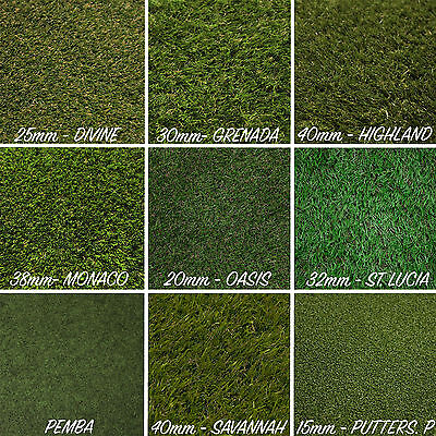 Artificial Grass Astro Turf Cheap Realistic Natural Green Lawn Garden Carpet New