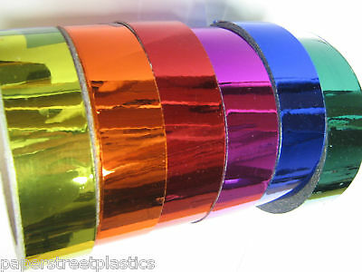 Colored CHROME Vinyl Tape, Pick your Colors and Sizes, Sticky Plastic Vinyl Tape