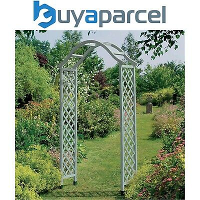 Gardman Elegant Wooden Garden Arch Sea Breeze Blue 07717 Pergola Plant Support
