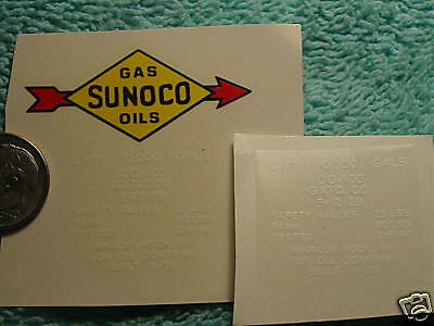 Lionel #2465 Sunoco Black Arrows W// Letters Tank Car  PRE-TRIMMED Water Decals