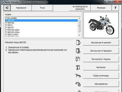 BMW F 800 GS S ST 650 GS Manuale officina RepROM