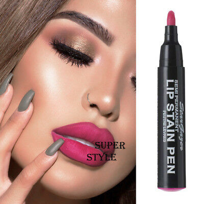 Stargazer MATTE HOT PINK SEMI PERMANENT LIP STAIN PEN Long Lasting Lipstick #5