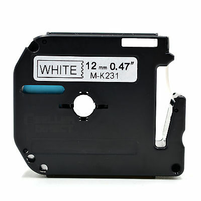 Compatible Brother MK-231 P-Touch Black on White Label Tape 12mm x 8m M-K231