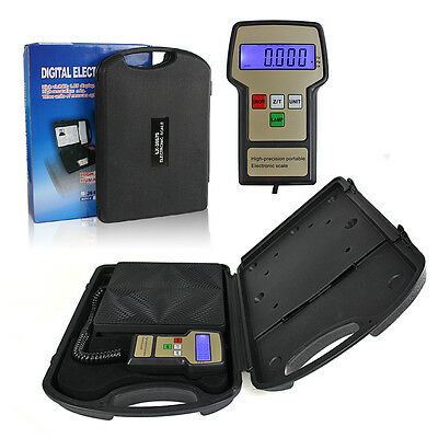 """US SHIP 9""""x9"""" Portable Digital Electronic Refrigerant Charging Scale 220lbs ANG"""