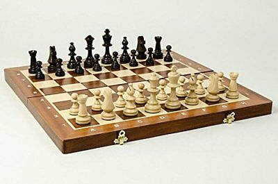 "INLAID ""TOURNAMENT No 5"" PROFESSIONAL WOODEN CHESS SET - WEIGHTED STAUNTON !!!"