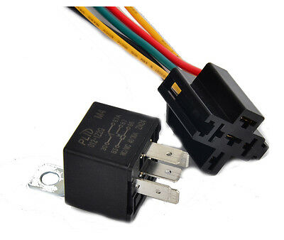 12V Metal Backrest Relay & Socket DC 30A/40A AMP Car motorcycle Auto 5Pin