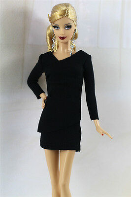 Handmade,Vintage Style Little Black Dress/Outfit For 11.5in.Doll Silkstone H05