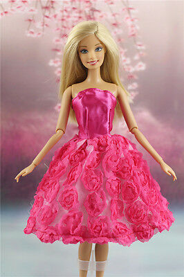 Lovely Fashion Clothes Outfit/Flower Dress For Barbie Doll D01U