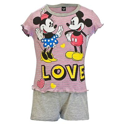 Mickey Mouse - Baby Girls Love Heart Toddler 2 Piece Set