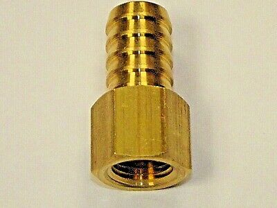 Brass Female BSP Straight Hosetail Connectors, Barbed connecting Hose tails,