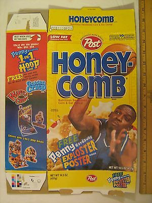 POST Cereal Box 1998 HONEY-COMB with Penny Hardaway Poster [G7e4]
