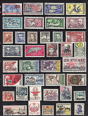 CZECHOSLOVAKIA Old STAMP Collection Used REF:F595