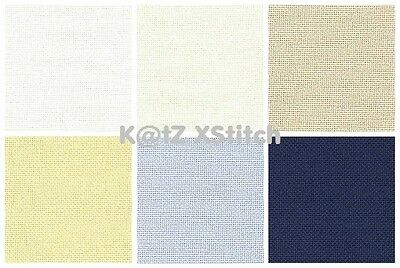 28 COUNT ZWEIGART BRITTNEY EVENWEAVE CROSS STITCH FABRIC Various Colours / Sizes