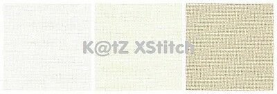 27 COUNT ZWEIGART LINDA EVENWEAVE CROSS STITCH FABRIC Various Colours / Sizes