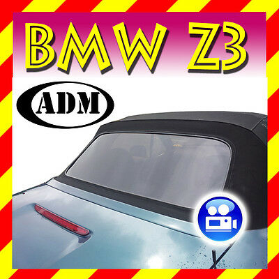"BMW Z3 Convertible Rear Window ""Black Tint"" with Zipper New"