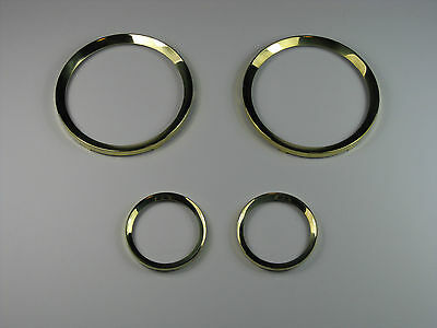 Lotus Cortina Mk1 Smiths Instrument Brass Bezel Set Pre Airflow