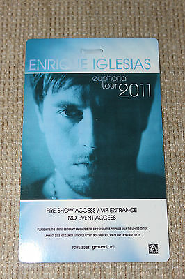 Enrique Inglesias - Limited Edition Vip Laminate Card - New