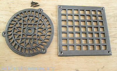 Antique Cast Iron Vintage Style Air Vent Air Brick Grille Cover