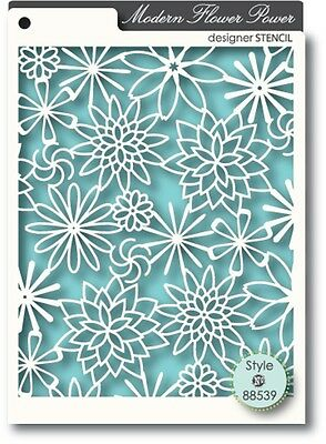 Memory Box Stencil Modern Flower Power 88539
