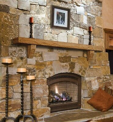 "Pearl Mantels 72"" Perfection cast stone shelves for fireplace, TV, etc. 4 colors"