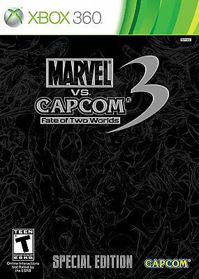 Marvel vs Capcom 3 Fate of Two Worlds SPECIAL EDITION Xbox 360 MINT CONDITION