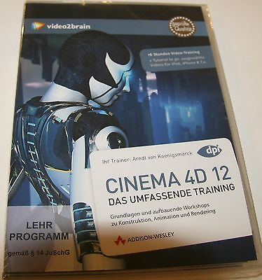 Video2brain: CINEMA 4D 12 - das umfassende Training (Lehrprogramm) NEU OVP -50%!