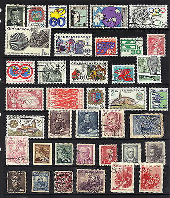 CZECHOSLOVAKIA Old STAMP Collection Used REF:F601