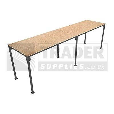 1x Large Portable Table Slot Together Trestle Market Stall Steel Frame Table