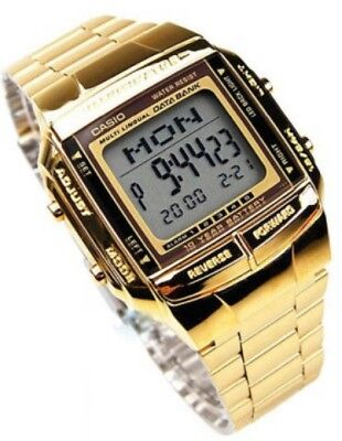 Casio Men's Gold tone Data Bank Watch DB360G-9A