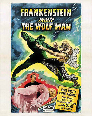 Glossy 8x10 #0 Movie Poster from Frankenstein Meets The Wolf Man (1943)