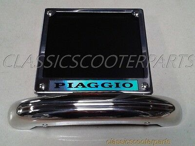 Vespa Lambretta license plate holder frame VNA VNB VLB VBA VBB VBC TV LI V8024
