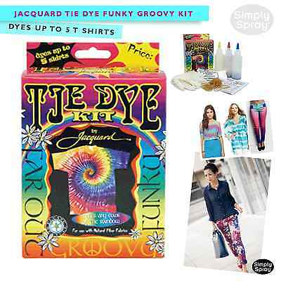 Jacquard Funky Groovy Tie Dye Kit - Dyes up to 5 T-Shirts - for Natural Fibers