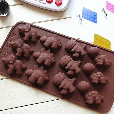 Adorable Cute Dinosaur Flexible Silicone Mold Candy Chocolate Cake Jelly Mould