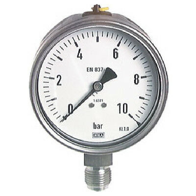 "100 mm safety manometer 0/6 bar G 1/4"" STAINLESS STEEL"