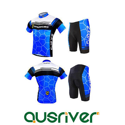 2015 New Men Cycling Bicycle Elestic Clothing Jersey Shirt Shorts Pants Suit Set