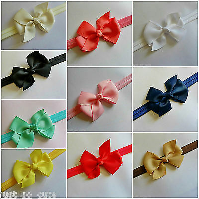 Baby Girls Bow Headband Hairband Soft Elastic Band Hair Accessories 3 inch bow
